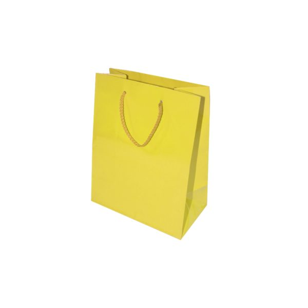 GIFT BAG 17+8X22cm YELLOW