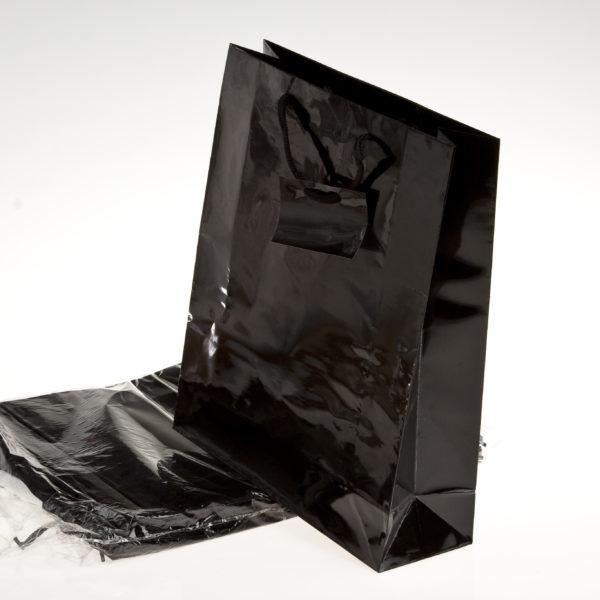 xGIFT BAG PLAIN 260+120x320m BLACK