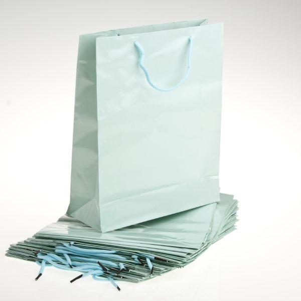 GIFT BAG 26+9X32cm PWDR BLUE