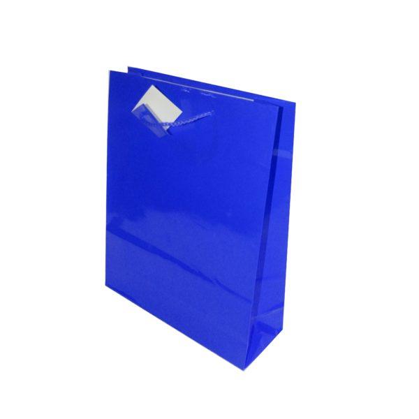 PK(20GIFT BAGS 26+9X32cm ROYAL BLUE