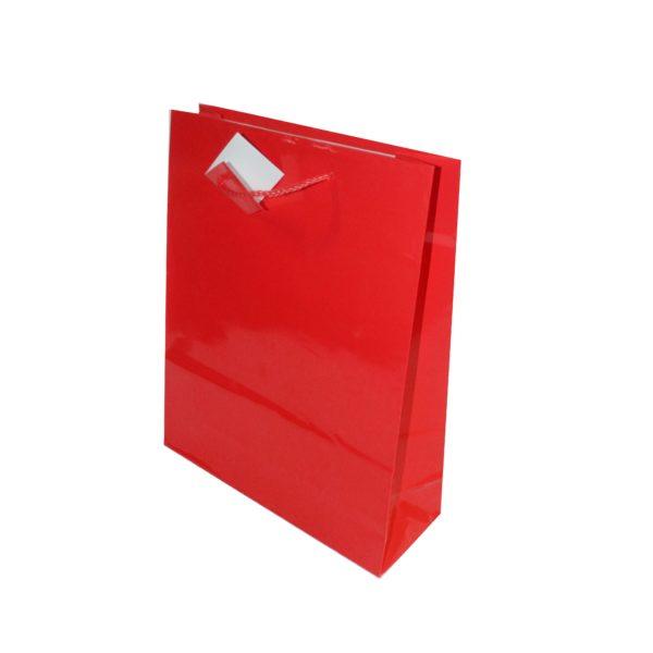xGIFT BAG PLAIN 260+120x320m RED