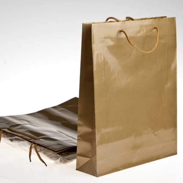 GIFT BAG GOLD 31X38cm