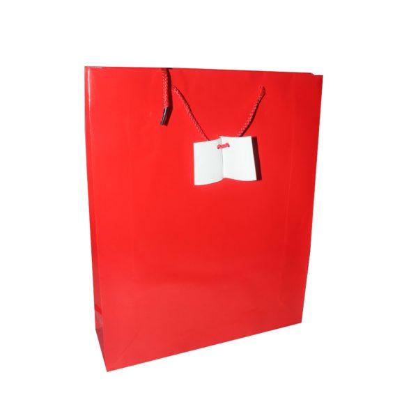 PK(20) GIFT BAG RED 31X38cm