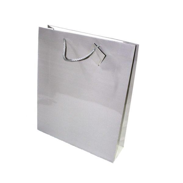 GIFT BAG SILVER 31X38cm