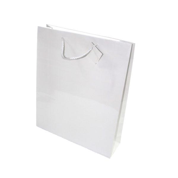 PK(20) GIFT BAG WHITE 31X38cm