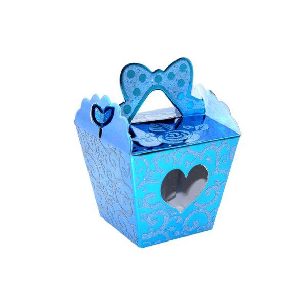 PACK (12) SWEET BOX BLUE 5x5x6cm TAPER (SJ-028S)
