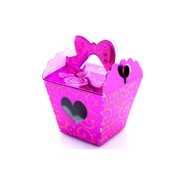 PACK (12) SWEET BOX CERISE 5x5x6cm TAPER (SJ-028S)