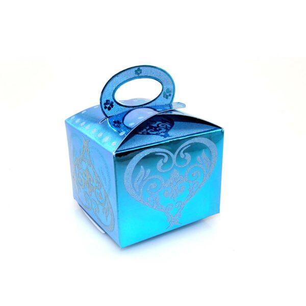 PACK (12) SWEET BOX BLUE 8x8x7cm (SJ-019G)