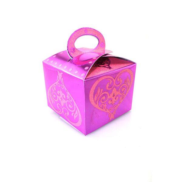 PACK (12) SWEET BOX CERISE 8x8x7cm (SJ-019G)