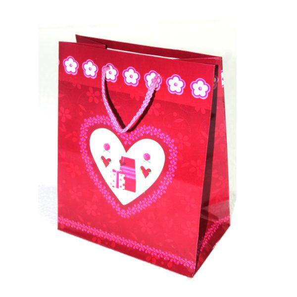 GIFT BAG HEART 18w x22h