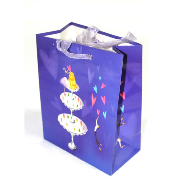 GIFT BAG LOVE STORY PURPLE18w x22h