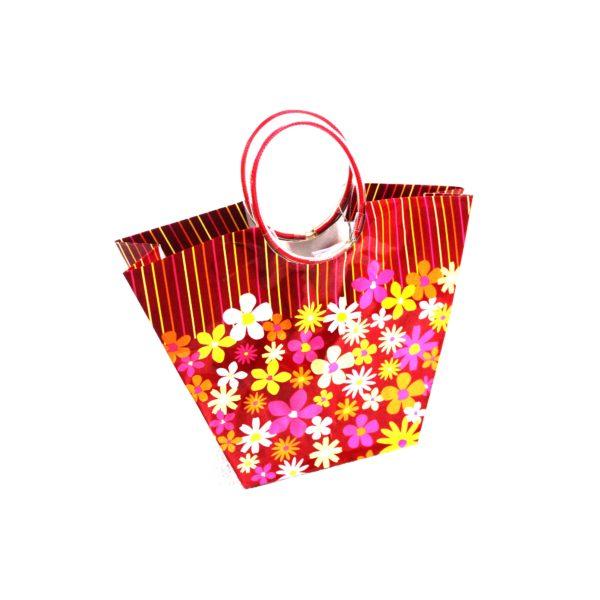GIFT BAG SPRING FLOWER SHAPED 27w x22h