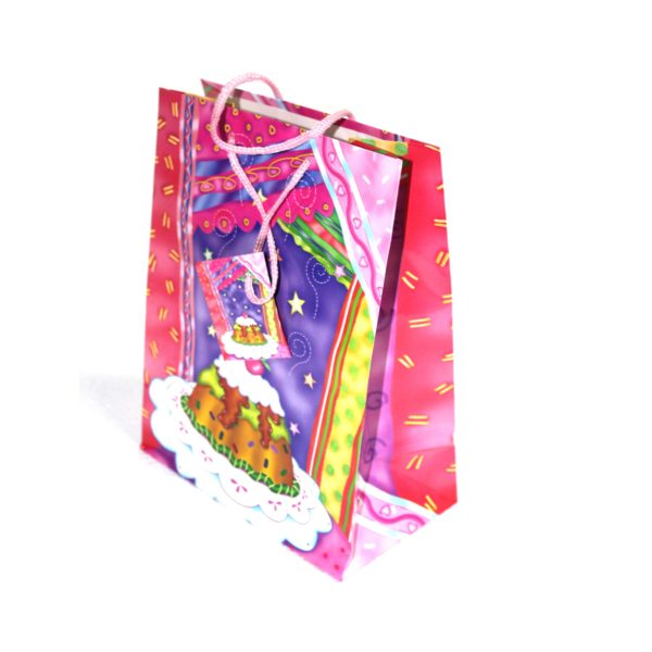 HAPPY BIRTHDAY PINK MULTI MED 18w x22h