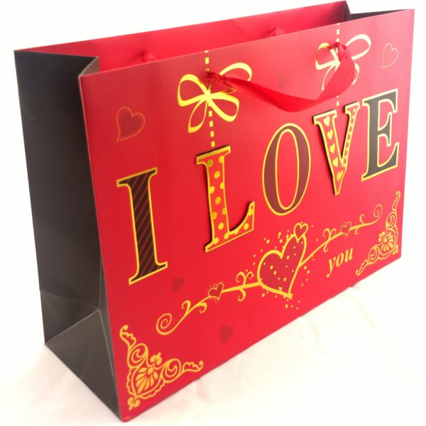 GIFT BAGS LARGE WITH POP UP(3D) / GLITTER