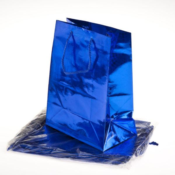 SMALL GIFT BAG METALLIC 11×14+6cm