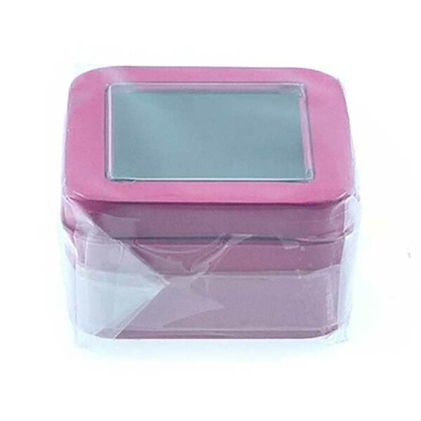 GIFT BOX TIN WINDOW W/LID LARGE -ASSORTED COLOURS