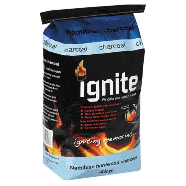 Ignite Lumpwood Charcoal 3kg + 1 kg Instant Light