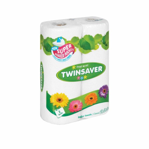 BALE (12×2's) TWINSAVER ROLLER TOWELS 260x220mm – 50 SHEETS