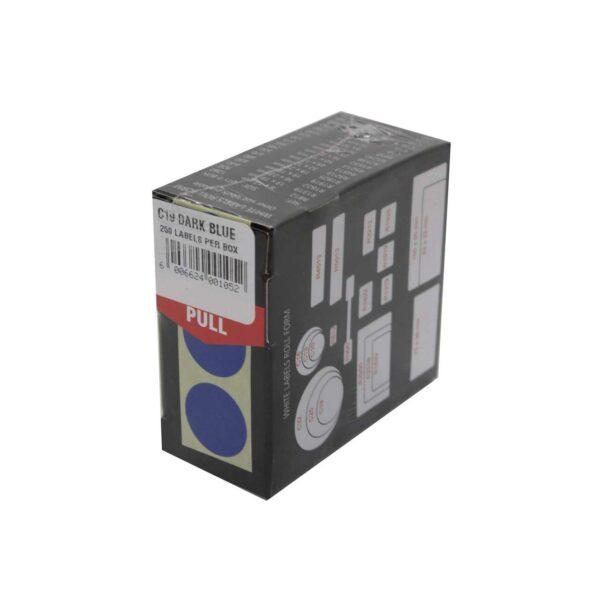 BOX (250) LABELS DARK BLUE C19 REDFERN
