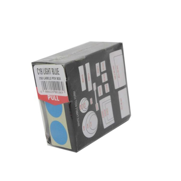 BOX (250) LABELS LIGHT BLUE C19 REDFERN