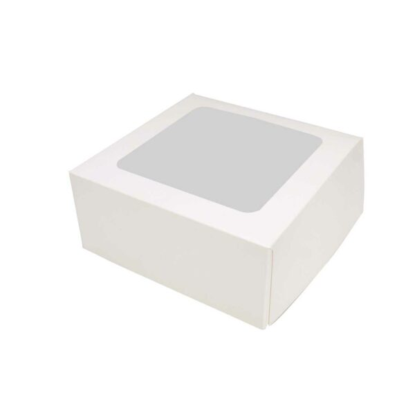 (10) MUFFIN BOXES WHITE 6x6x3    4s