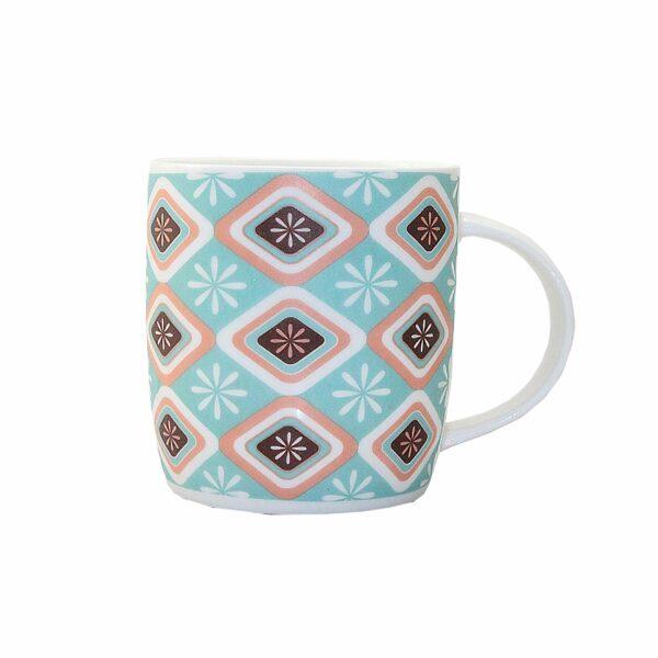 COFFEE MUG DIAMOND DESIGN 9x9cm