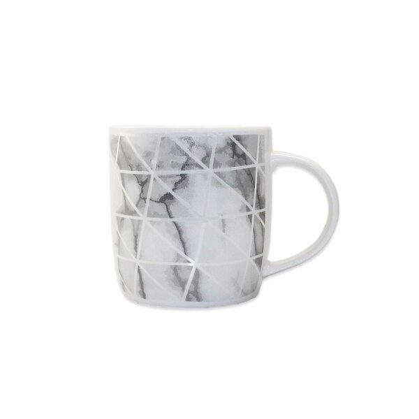COFFEE MUG GREY LINES DEISGN 9x9cm