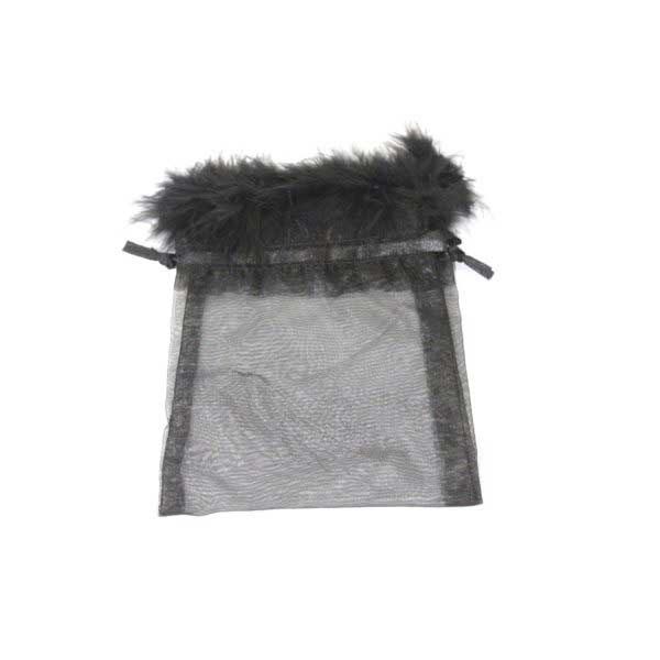 10 BAGS ORGANZA 17cmX12cm FEATH BLK