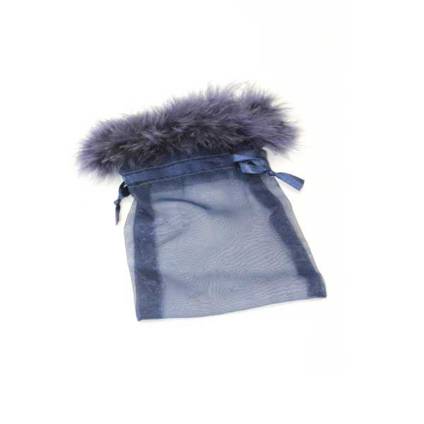 10 BAGS ORGANZA17cmX12cm FEATH NAVY