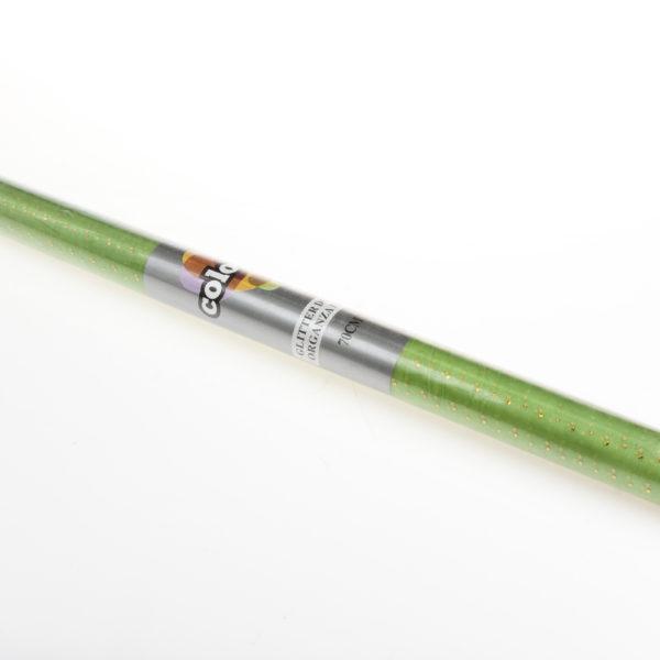 ORG.GLITTER DOTS 70cmX10mt Olive