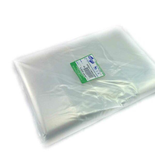 (100) POLYBAGS 380+190x850x45mi (300 sheets)48's t/rolls