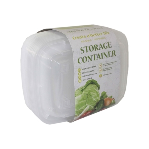 PK(8) PL. DISPOSABLE STORAGE CONTAINER W/LID 300ml WHITE
