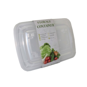 PK(4) PL. DISPOSABLE STORAGE CONTAINER W/LID 800ml WHITE