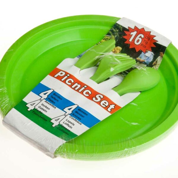 16pc Plastic Picnic Set