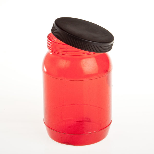 1.5Lt Red Bottle With Lid