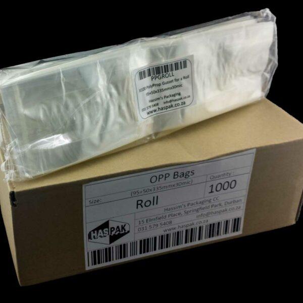 Case (1000) 95+50x335mm x30mic Unprinted BOPP