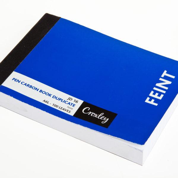 100pg FEINT RULE DUPLICATE BOOK A6