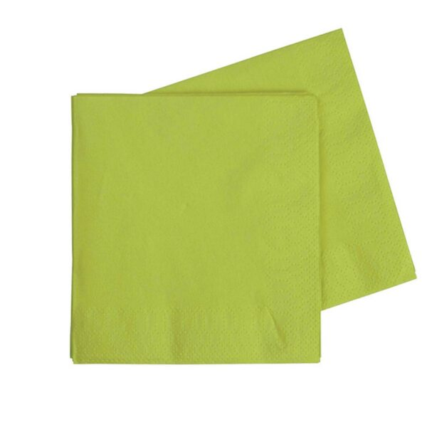 20's 2PLY LIME GREEN SERVIETTES