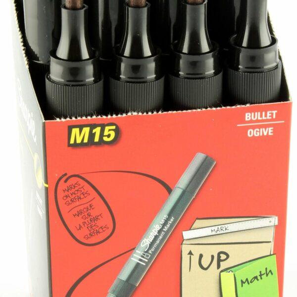 BOX (12) SHARPIE PERMANANT MARKER BULLET BLACK M15