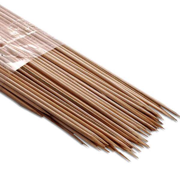 PACK (100) BAMBOO SKEWERS 250mm x 3mm