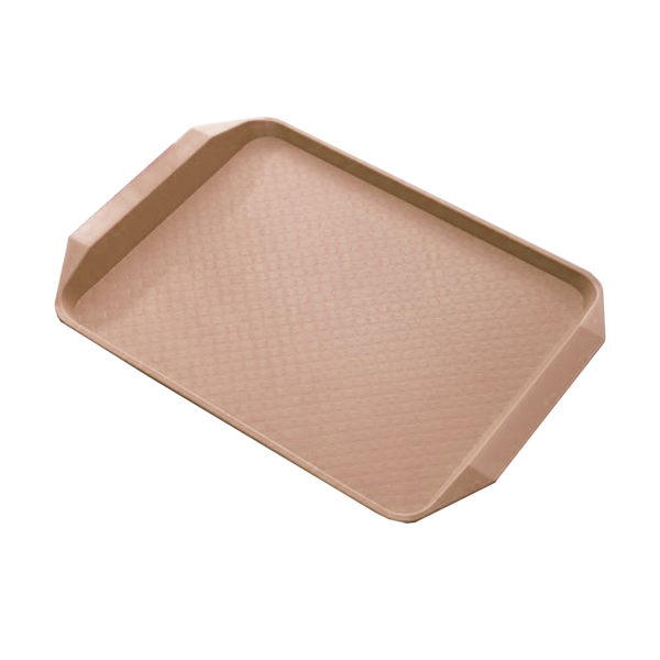 STEEL KING FAST FOOD TRAY BROWN 43x30cm
