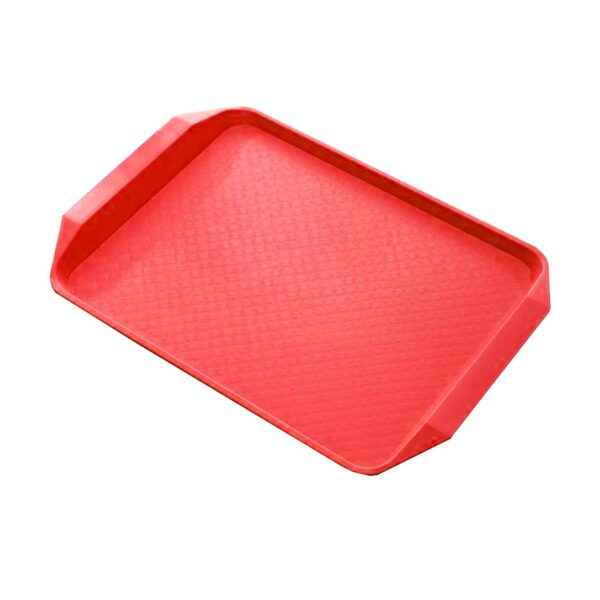 STEEL KING FAST FOOD TRAY RED 43x30cm