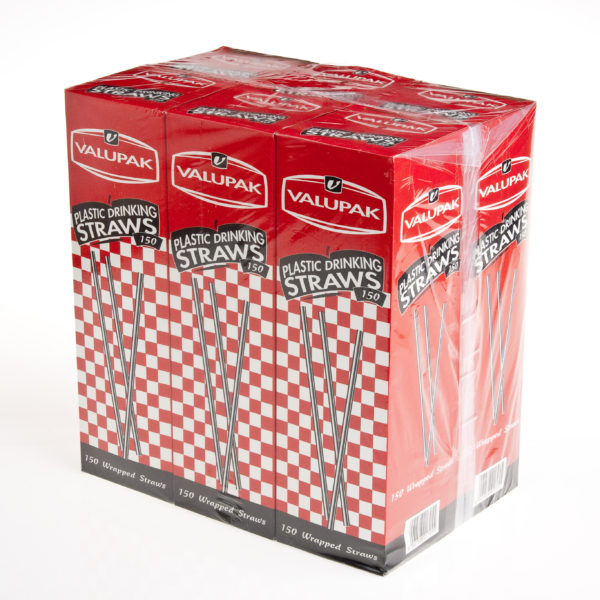 BOX(150) WRAPPED STRAWS