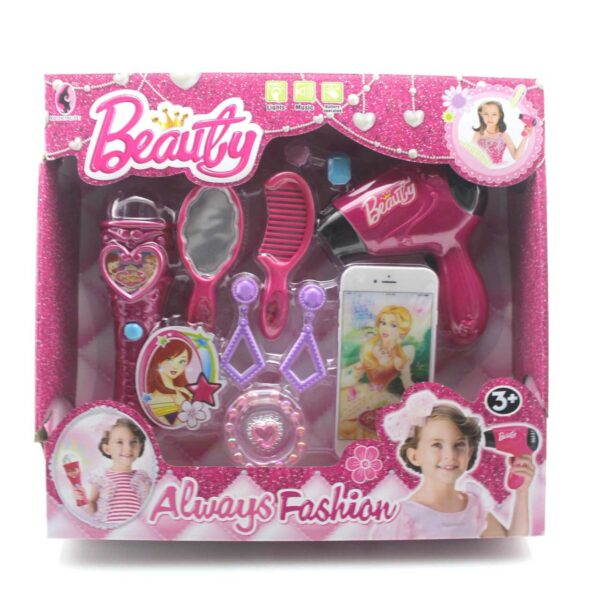11 PIECE TOY BEAUTY SET WITH MICROPHONE