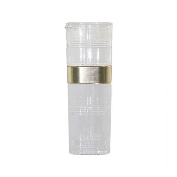 ACRYLIC WATER JAR with GOLD RIM 1LT