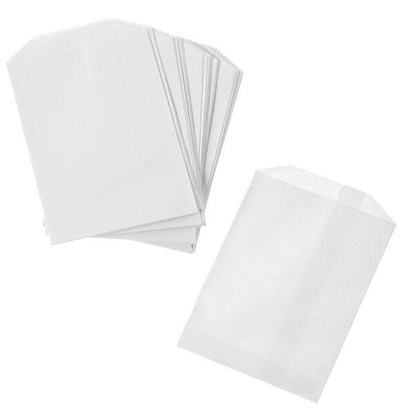 x1000 FLAT WHITE BAGS 2lb(17x22cm)