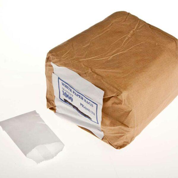 1000 FLAT WHITE BAGS 2oz(1/8) (7x11cms) *PEANUT BAG*