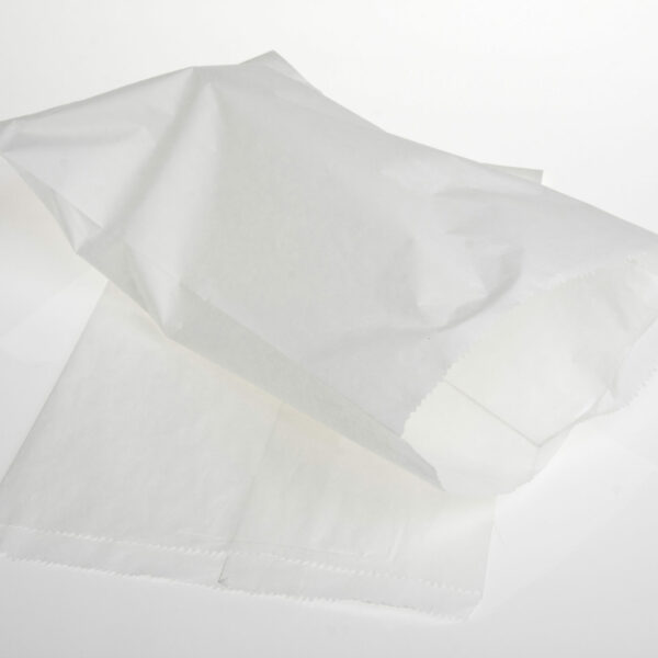 500  FLAT WHITE BAGS 6lb(23x38cm)