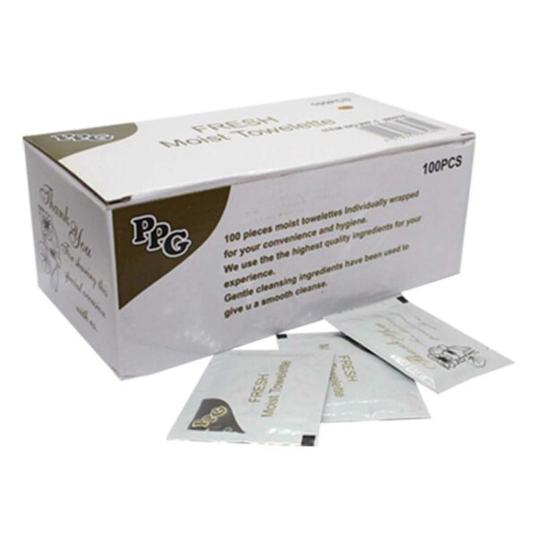 BOX (100) REFRESHER TOWELS WET WIPES WHITE *PPG*