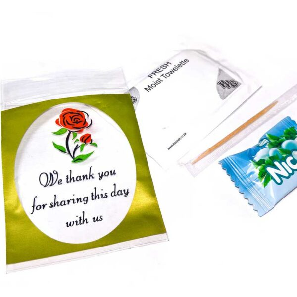 PACK (50) WET WIPES + TOOTHPICK + NICOS SWEET,